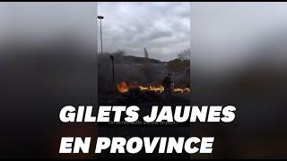 Les images de l'acte IV des gilets jaunes qui ont manifesté en province
