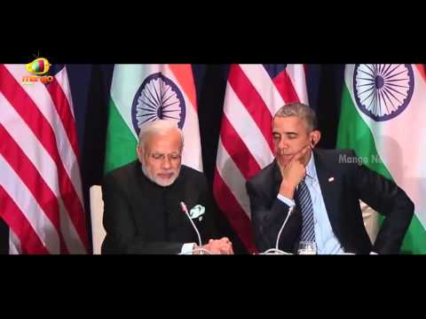 US President Obama & Indian PM Modi Talk At UN Climate Change Summit In Paris