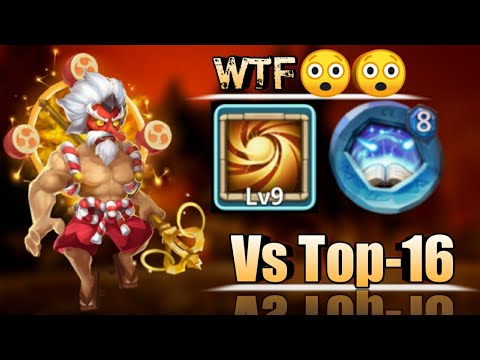 Storm Eater | 20 BT | Vs Top-16 Heroes | 9 Sacred Light | 8 Revite | No Warden/Pet | Castle Clash