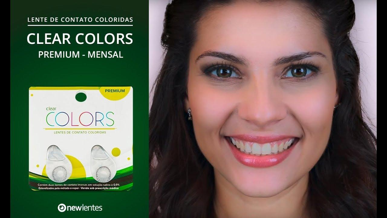 021a26cf90 Lentes de Contato Coloridas CLEAR COLORS PREMIUM - Descarte Mensal.  NewLentes