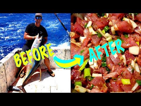 How To Make Ahi(Yellowfin Tuna) Poke!! Catch And Cook Pt.3
