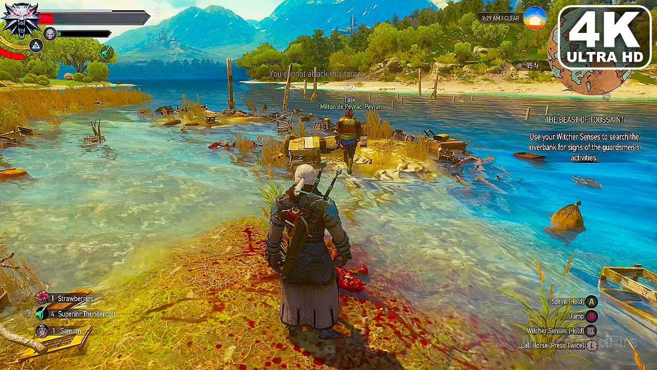 THE WITCHER 3 Xbox Series X Gameplay 4K 60FPS