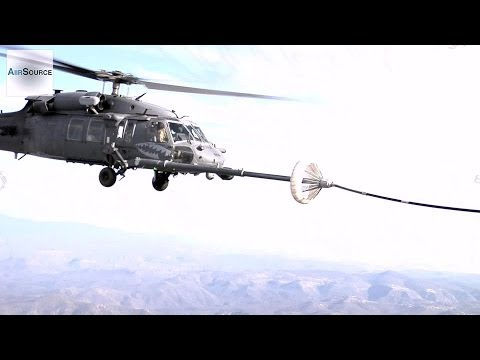 Black Hawk Helicopter Aerial Refueling by KC-130 (2014)