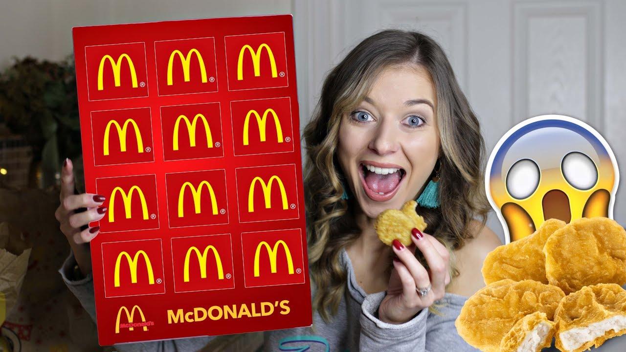 Mcdonalds Advent Calendar Chicken Nuggets Youtube