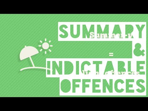 Summary & Indictable Offences - Legal Studies Terms