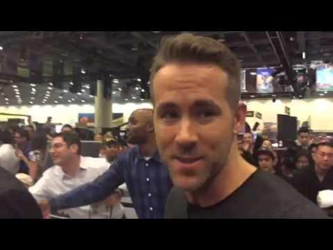 Ryan Reynolds Meets Amari Toomer At Super Bowl 50 #SB50