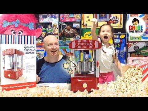 Popcorn Maker Movie Theater Real Popcorn Machine Like Moon Dough Popcorn Maker Movie Theater Toy