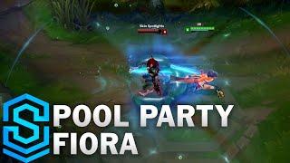 Pool Party Fiora Skin Spotlight - League of Legends