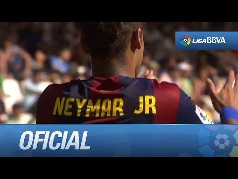 Messi cede el penalti a Neymar que marca (0-7) en el Córdoba CF - FC Barcelona