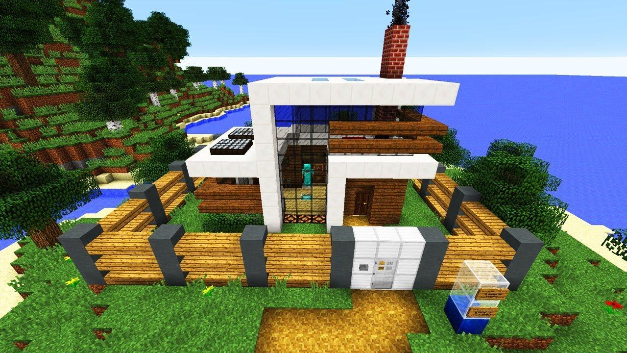 Self Building Minecraft Redstone House!