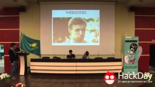 Никита Зельцер Caramba TV на Hackday в Алматы