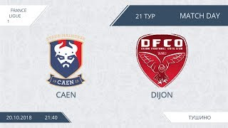 AFL18. France. Ligue 1. Day 21. Caen - Dijon