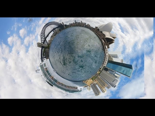 How to make circle photographs - tiny planet #1