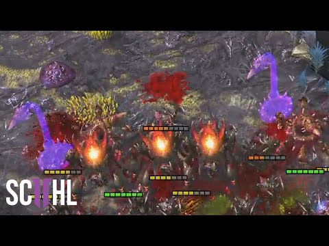 Serral's Spine Crawler PUSH - Starcraft 2: Serral vs. Reynor