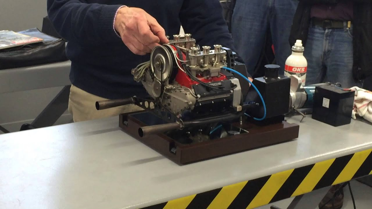 Porsche Model Engine Scale 1 3 Working Demonstration Youtube