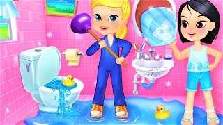 Fix It Girls Summer Fun - Play Repair The House Makeover Fix Up Pools - Summer Games For Children