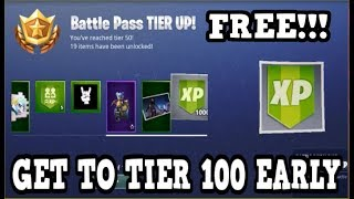 Fortnite   TIER 100 EARLY (Fortnitemares Challenge Glitch)