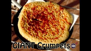 GIANT English Crumpets Recipe - Lets Cook Easy