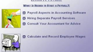 Accounting Tutorial What is Needed to Start a Payroll? Training Lesson 14.1