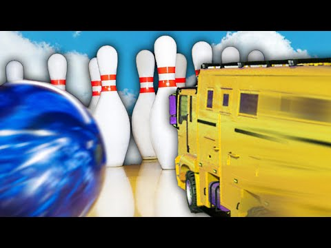 BOWLING WITH CARS!? (GTA 5 Funny Moments)