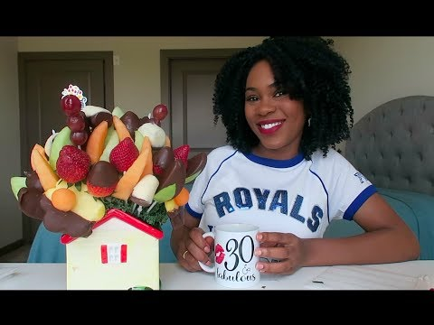 EDIBLE ARRANGEMENTS FRUIT MUKBANG (EATING SHOW)