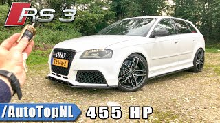 455HP Audi RS3 8P TVS Engineering REVIEW POV Test Drive on AUTOBAHN & ROAD by AutoTopNL