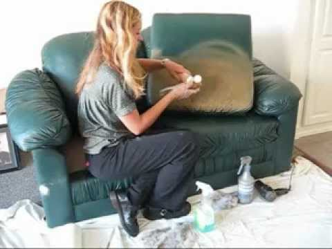 change color of leather paint vinyl youtube. Black Bedroom Furniture Sets. Home Design Ideas