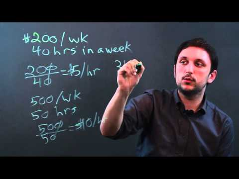 How to Calculate Dollars Per Hour
