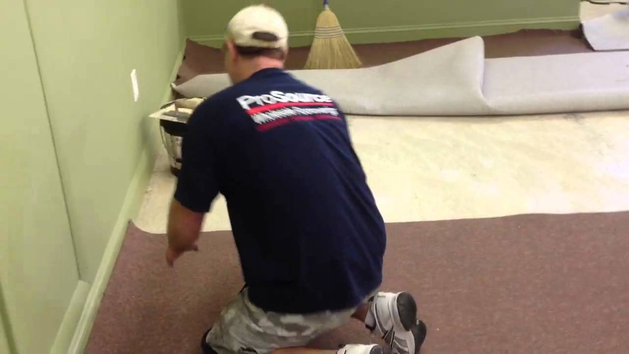 How To Seam A Glue Down Carpet Youtube
