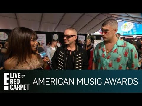 J Balvin & Bad Bunny Talk Teaming Up With Cardi B | E! Red Carpet & Live Events