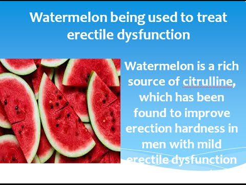 Foods that help improve erectile dysfunction