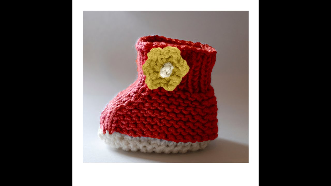 Baby Booties Knitting Pattern With Full Video Guide 0-12 Months ...
