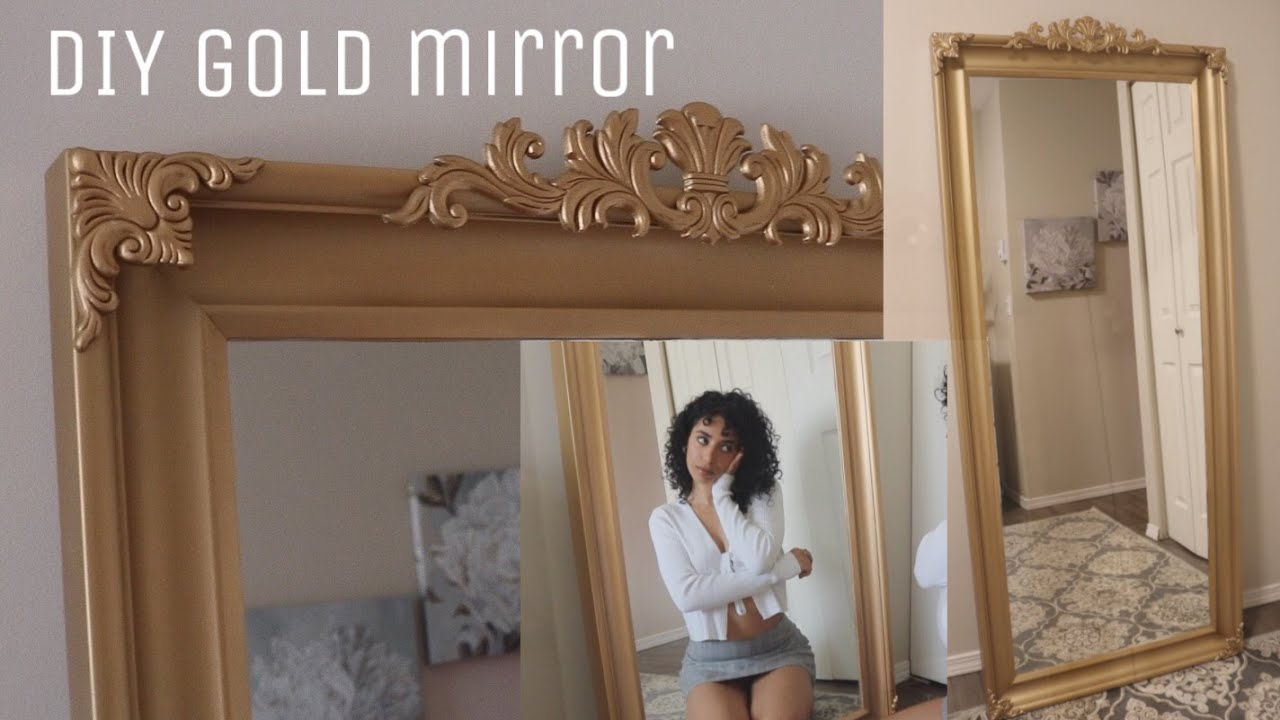 Diy Gold Parisian Mirror Youtube