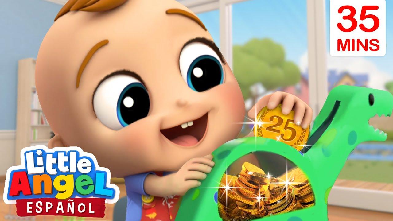 ¡Ahorremos las Monedas en la Alcancía! 🐖 | Canciones Infantiles de Bebé Juan | Little Angel Español