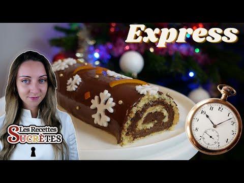 bûche-de-noël-rapide-et-facile-/-bûche-roulée-chocolat-/-les-recettes-sucrÈtes---julie