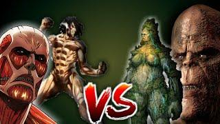 Titans ( God Of War ) VS Titans ( Attack on Titan )