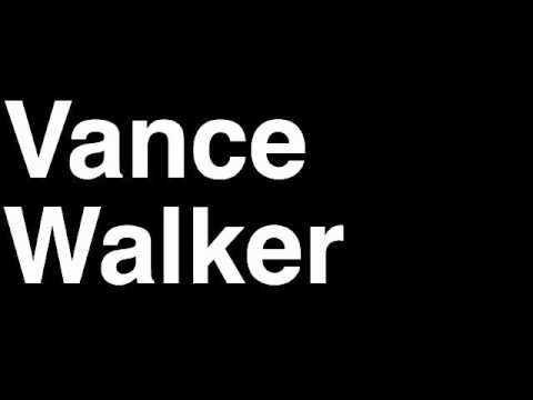How to Pronounce Vance Walker Atlanta Falcons NFL Football Touchdown TD Tackle Hit Yard Run