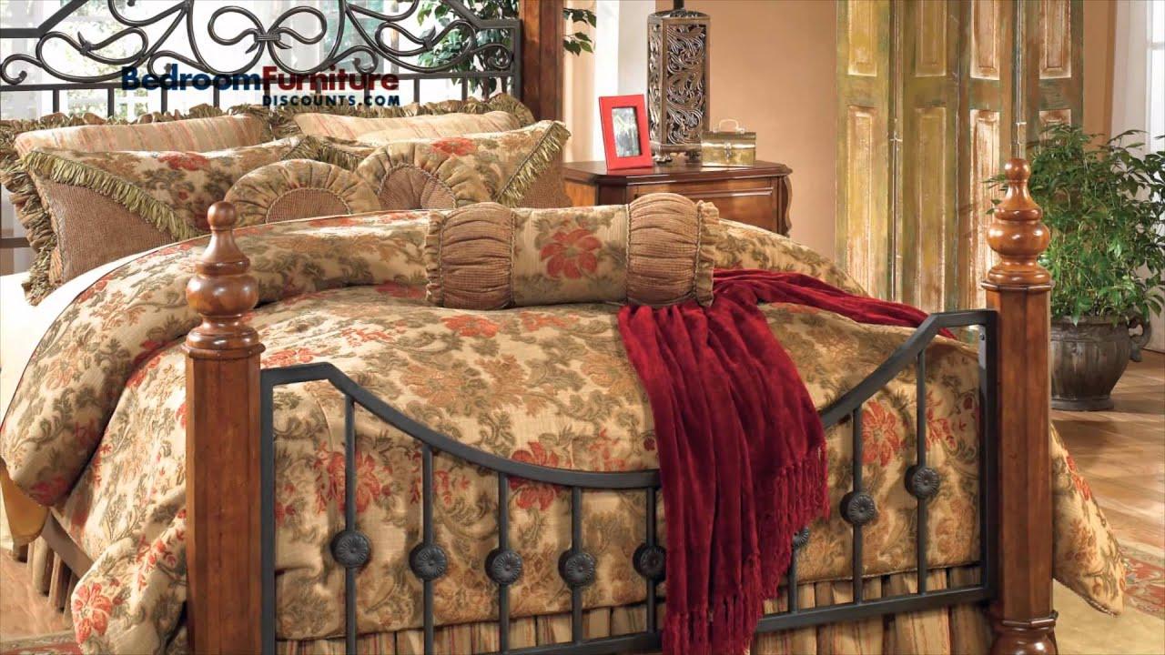 Belmar Gray 4 Pc Full Poster Bed Wtrundle.Attractive Wyatt Bedroom ...