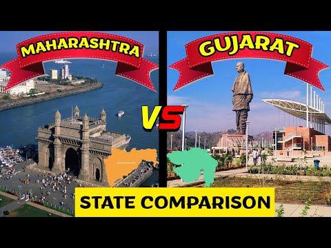 Maharashtra VS Gujarat | State Comparison | GDP, Literacy, Poverty, Food etc [2020]