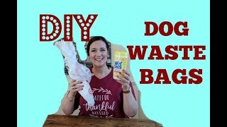 DIY Dog Waste Bag Dispenser | Dog Poo Poo Bag Dispenser