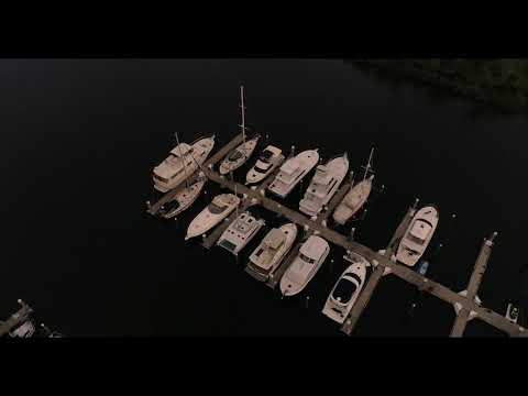 Halifax Harbor Marina Daytona beach and Bridge Construction from Drone