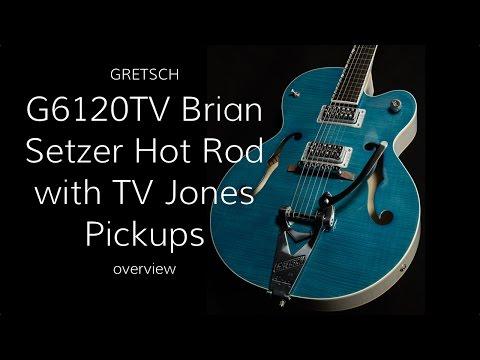 Gretsch G6120TV Brian Setzer Hot Rod with TV Jones Pickups  •  Wildwood Guitars Overview