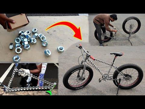 AMAZING Bicycle out of Hexagonal Iron nut/Amazing bike made of Hex nuts/bici fatta di dadi esagonali thumbnail