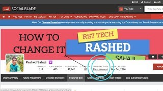 How to change your channel type on social blade!!!