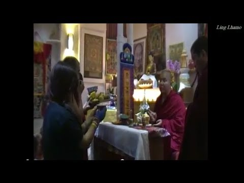 Monlam tsog with Ling Rinpoche in Paris