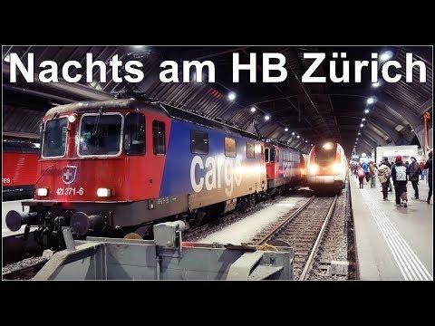 Zurich Main Station - Zürich HB 4K - Switzerland / Nachts am Hauptbahnhof Zürich