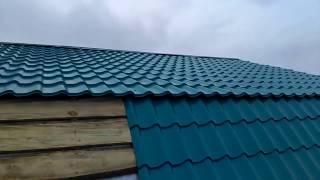как я делал крышу часть 14 ( процесс укладки ломаной крыши )