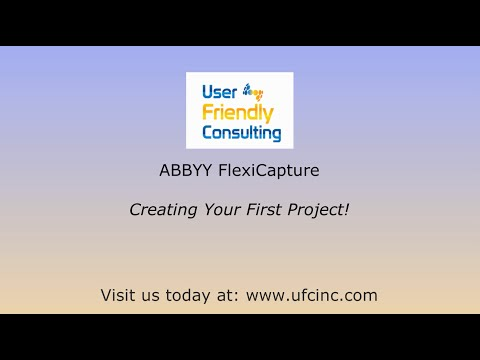 ABBYY FlexiCapture - Creating Your First Project