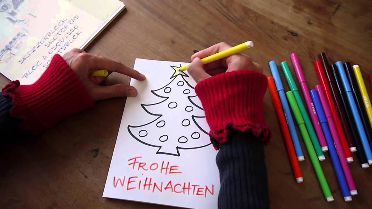 Wie zeichne ich schnell motive f r weihnachtskarten - Interaktive weihnachtskarte ...