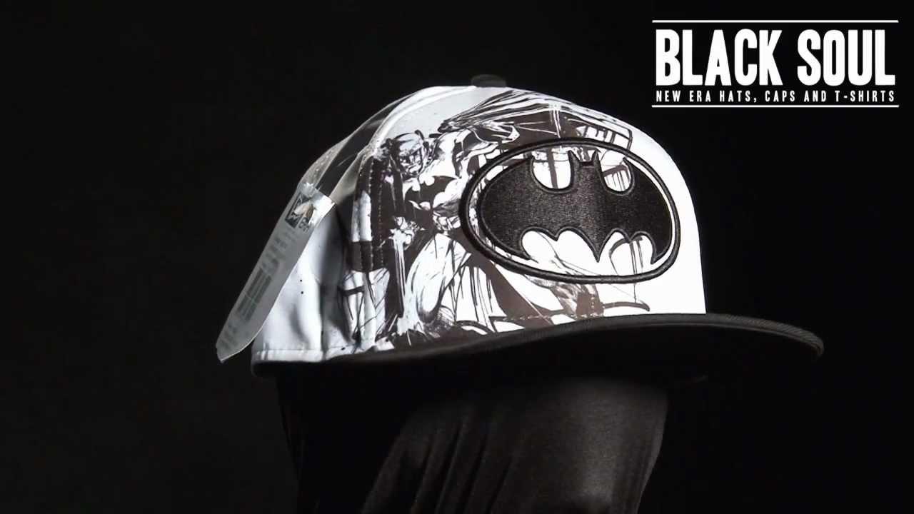 Boné New Era 5950 59Fifty aba reta DC Comics Batman - YouTube abd7b803800